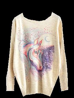 dresslily majica jednorog, unicorn