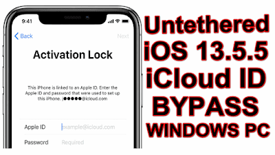 iOS13.5.5 Untethered iCloud ID Bypass Apple Device One Click Tool On Windows Pc