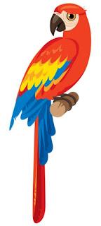 Guacamaya Bandera de color Amarillo, Azul y Rojo