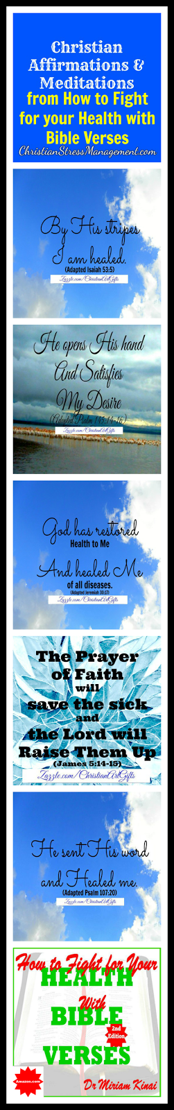 Christian affirmations and meditations for your health