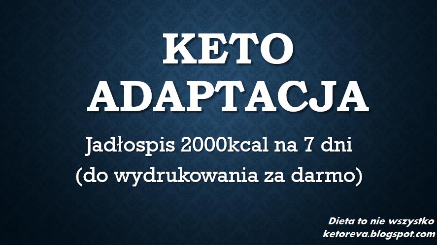 KetoAdaptacja - tygodniowy jadłospis 2000kcal