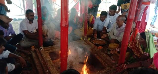 गिद्धौर : त्रिरात्रि सीताराम धुन महायज्ञ का हुआ समापन, अपेक्षाकृत कम जूट भक्त