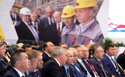 Vladimir Putin visited Zvezda shipyard.