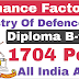 Ordnance Factory Recruitment 2019 Chargemen | OFB Recruitment 2019 | Diploma B-tech