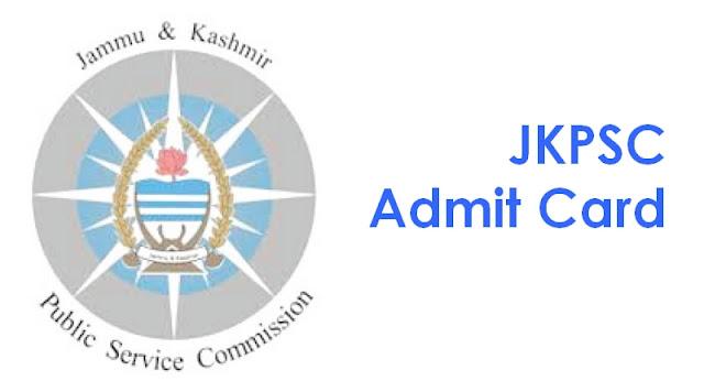 JKPSC Admit Card