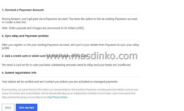 Cara Daftar Ebay Managed Payment dengan Payoneer 100% Berhasil