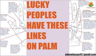 LUCKY PEOPLES HAVE THESE LINES ON PALM