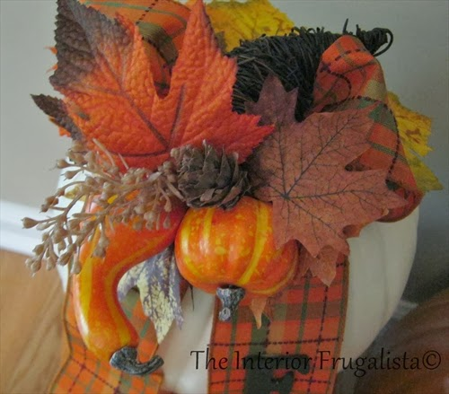 Step 8b Pumpkin Topiary tutorial