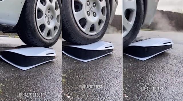 Tiktoker se hace viral al mostrar como aplasta un PS5 con un auto