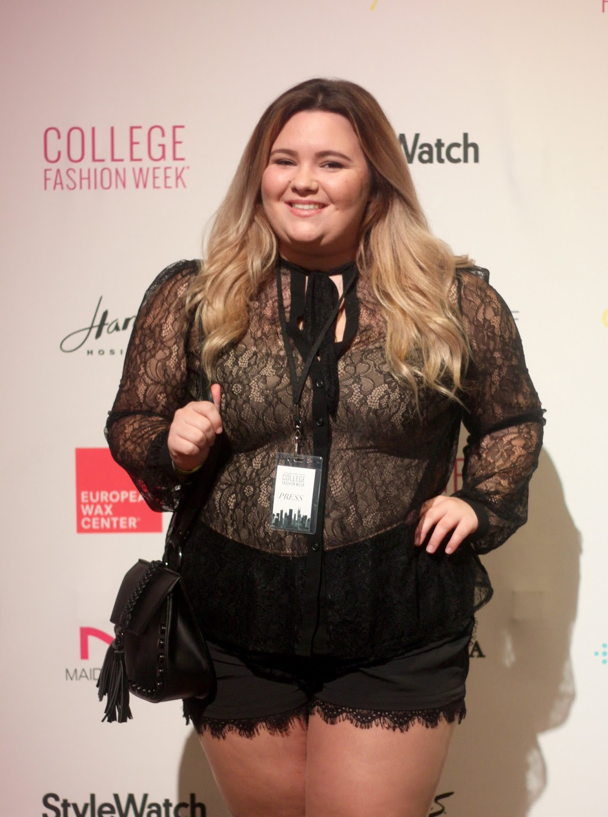 natalie craig, chicago blogger, midwest blogger, plus size fashion, ps blogger, her campus, college fashion week, chicago fashion week, fitbit flex 2, rebecca minkoff, the dry bar, perfumania
