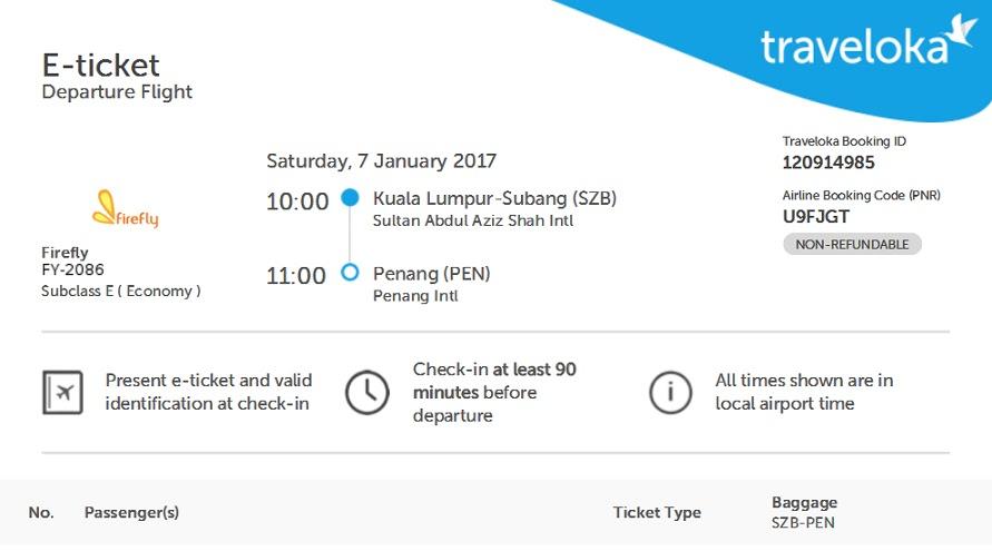 Booking tiket flight melalui Traveloka