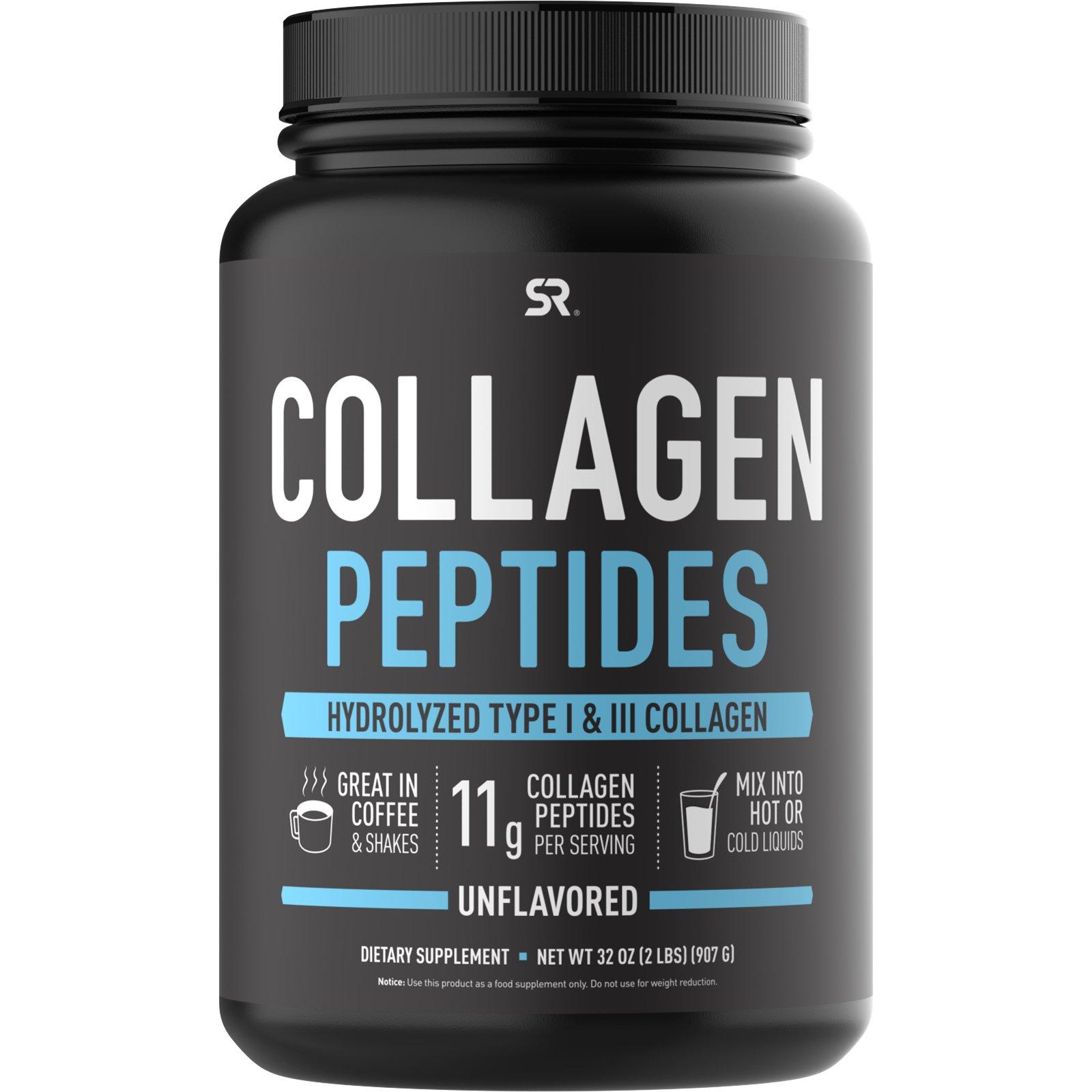 Sports Research, Коллагеновые пептиды, без вкусовых добавок, 32 унции (2 фунта)