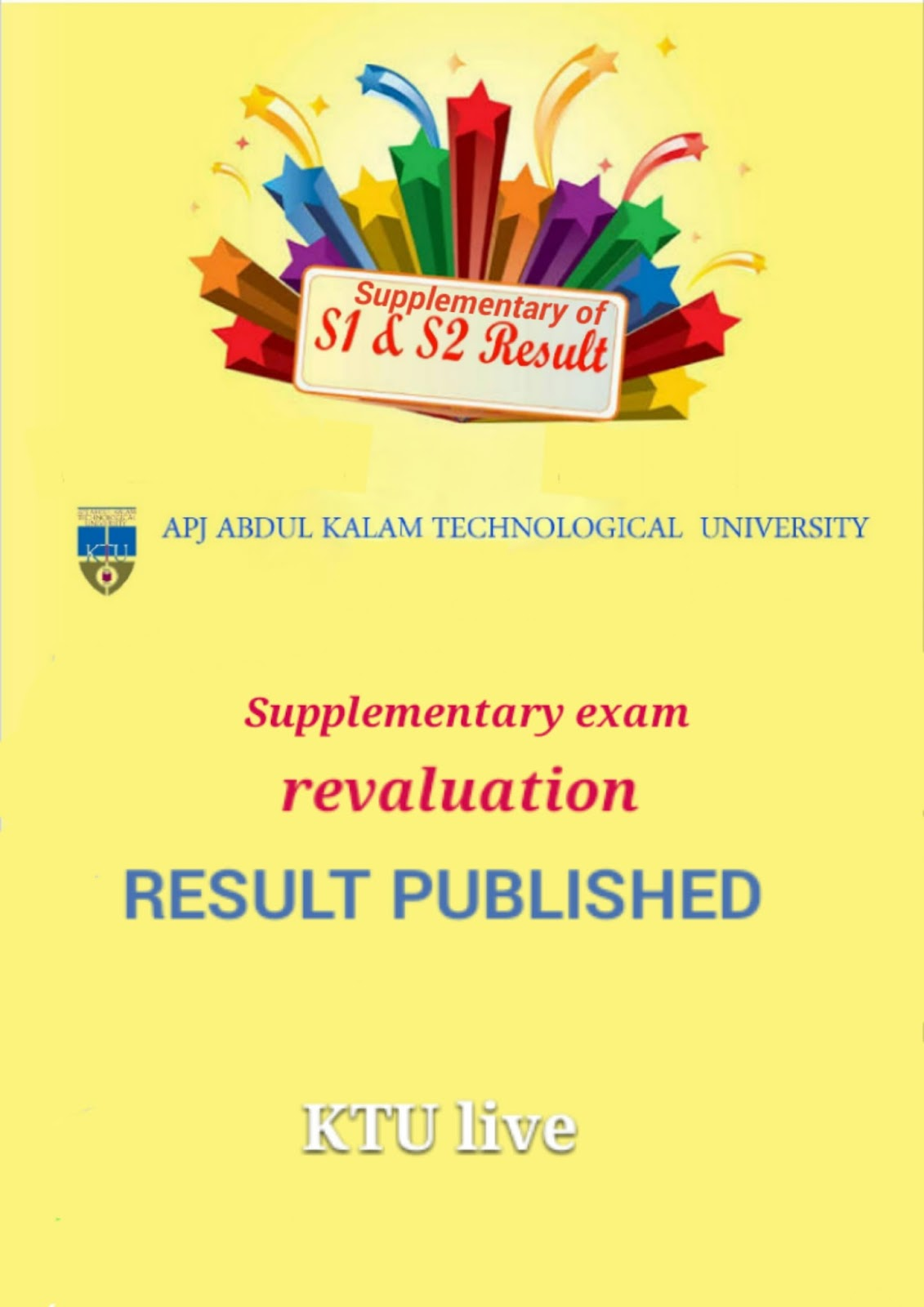 Ktu Supplementary Exam Revaluation Result Published