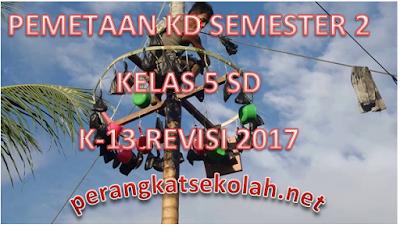 Pemetaan KD Semester 2 Kelas 5 SD Kurikulum 2013 Edisi Revisi 2017