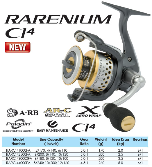 D Heaps fishing adventures: Tackle review: Shimano Rarenium CI4 4000FA