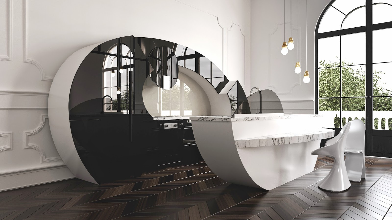 Las curvas de Cassandra: una cocina con puertas asimétricas ...