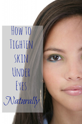 how to tighten skin under eyes naturally with baking soda, astringent