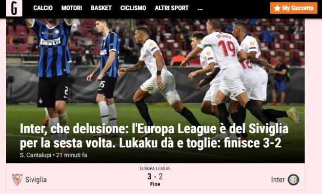 """Sevilla hạ Inter, vô địch Europa League: Báo Italia chỉ mặt """"tội đồ"""" Lukaku 6"""