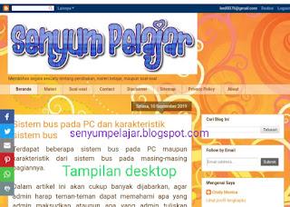 Tampilan desktop