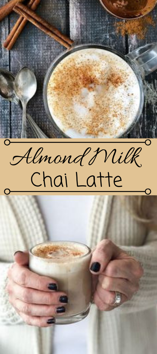 ALMOND MILK CHAI LATTE #drink #cocktail #latte #almond #vanilla