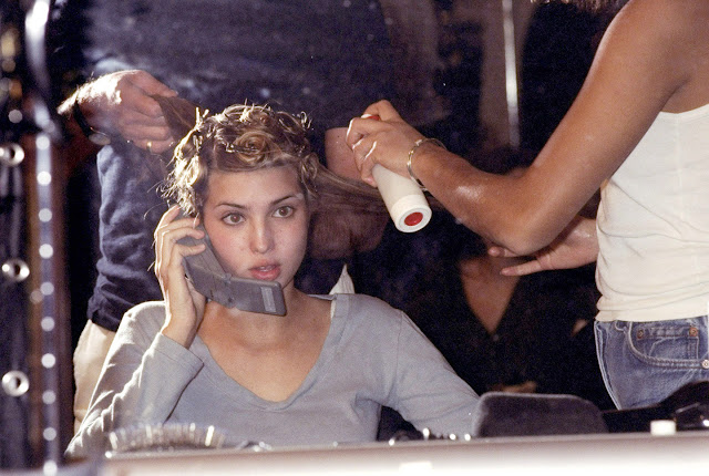 Ivanka Trump backstage on cell phone at the Jill Stuart fashion show in 1997. (Richard Corkery/NY Daily News Archive via Getty Images)