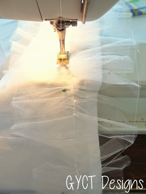 how to sew tulle
