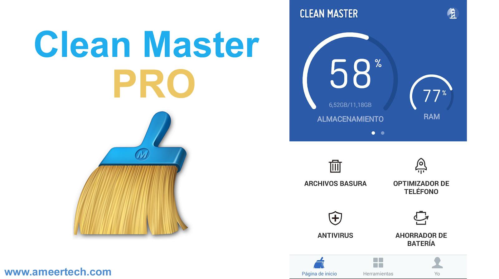 Download Clean Master PRO APK 2019