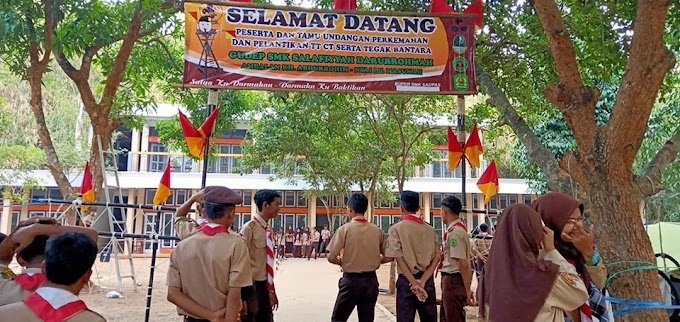 Kegiatan Kemah Pramuka SMK Sadpas Cirebon