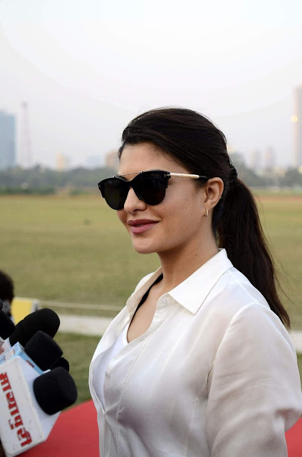 Jacqueline Fernandez Looks Effortlessly Chic at Horse Jumping Competition at Mahalaxmi Racecourse in Mumbai