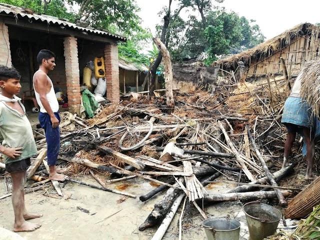 बिजली के शॉट सर्किट से लगे आग में हजारों की क्षति