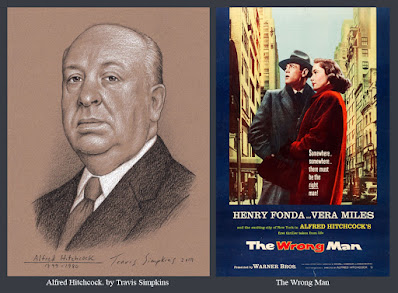 Alfred Hitchcock. The Master of Suspense. Film Director. The Wrong Man. by Travis Simpkins
