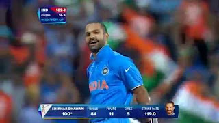 Shikhar Dhawan 100 - India vs Ireland Highlights - 34th Match - ICC Cricket World Cup 2015