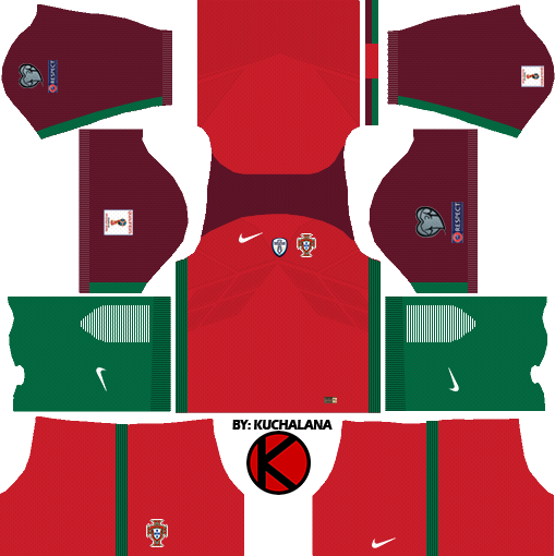 Portugal Kits 2017 - Dream League Soccer
