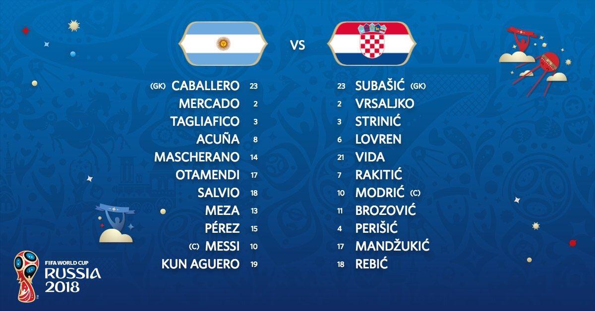 فضيحة كروية مباراة الارجنتين وكرواتيا ثلاثية مذلة كأس العالم 2018