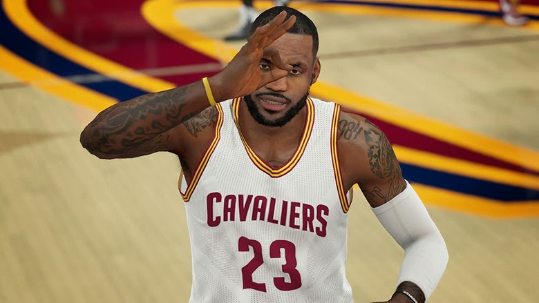 NBA 2K15 LeBron James No Headband