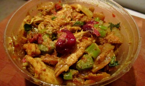 Curried Chicken Salad with Cranberries