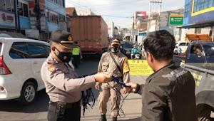 Oprasi Yustisi Prokes Polsek Rancaekek Polresta Bandung Imbauan 5M