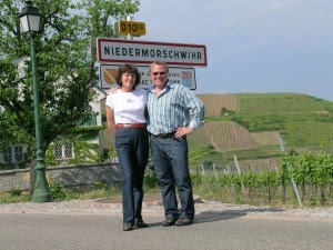 Liz and Anders in Niedermorschihr, Alsace, France. A famous Gewürztrminer area.