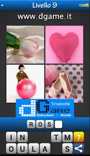 Trova la Parola - Foto Quiz con 4 Immagini e 1 Parola pacchetto 1 soluzione livello 9