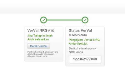 NRG yang telah disetujui