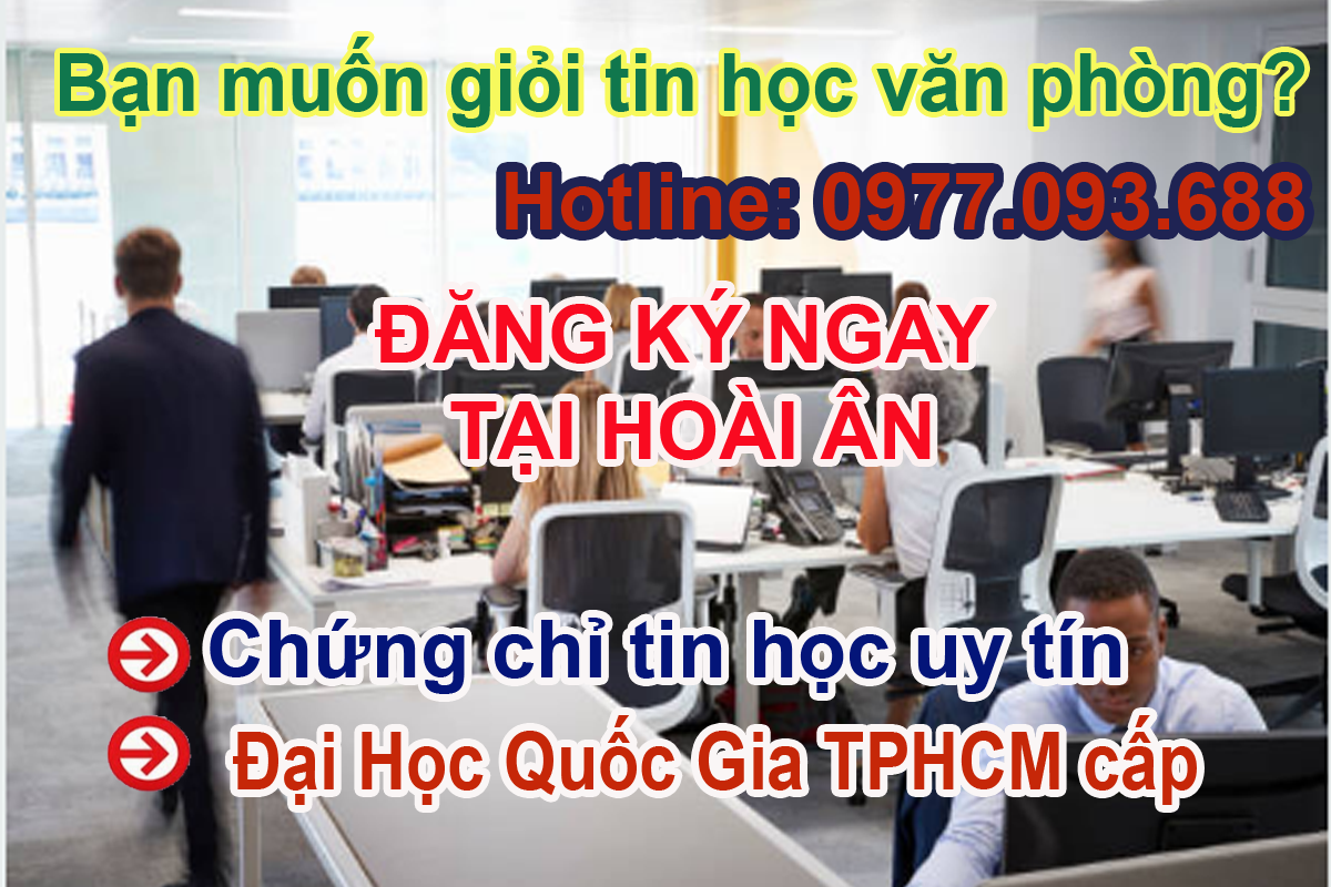 Lịch khai giảng tin học văn phòng