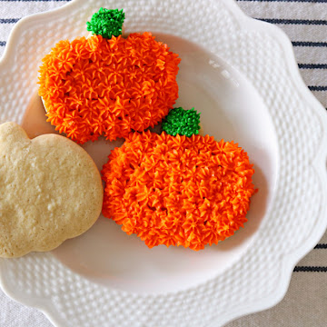 Mother's Sour Cream Sugar Cookies Decorated For Fall