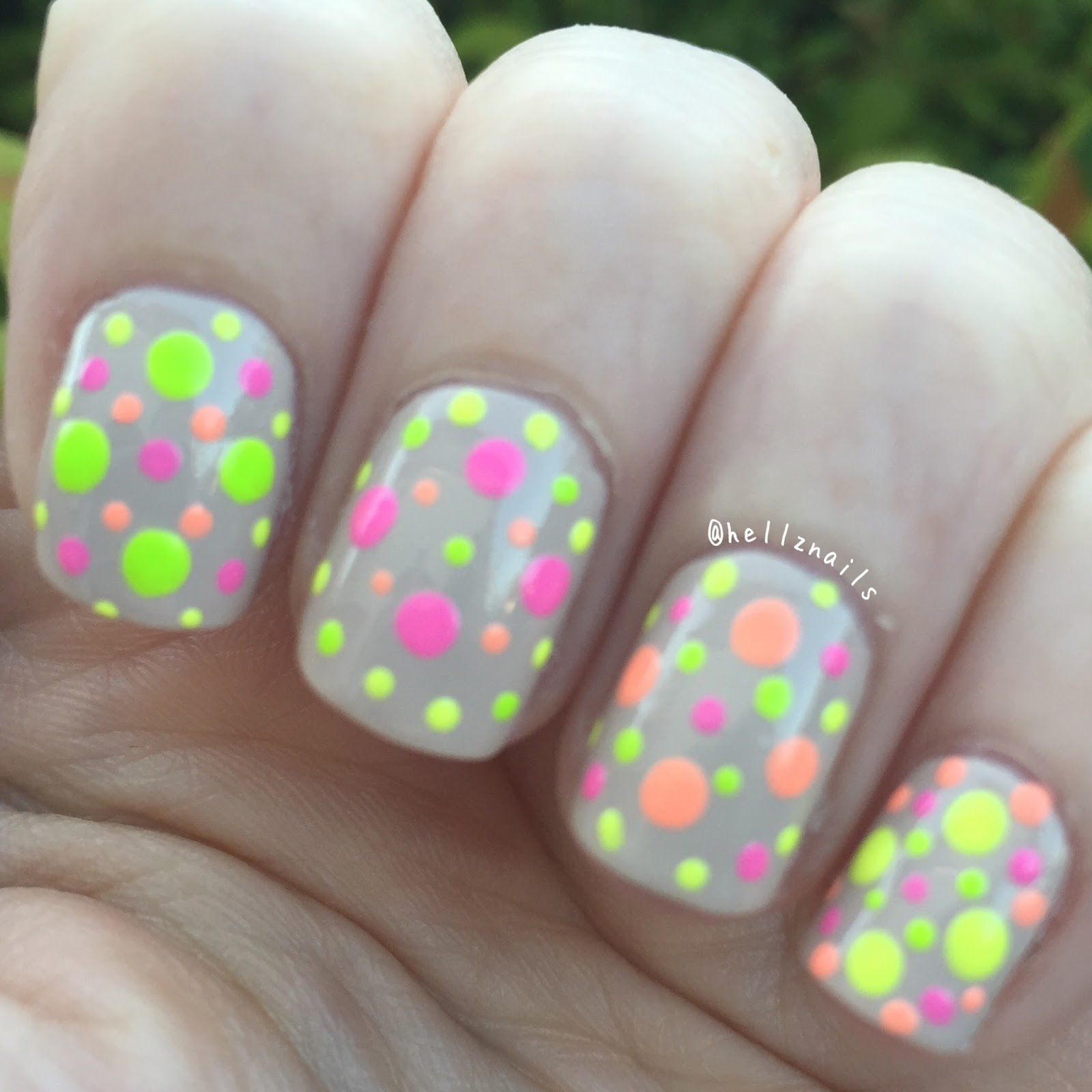 Hpb presents neutrals and neons linky hellz nails nude and neon dotticure nail art nails inc colville mews models own sun hat prinsesfo Gallery