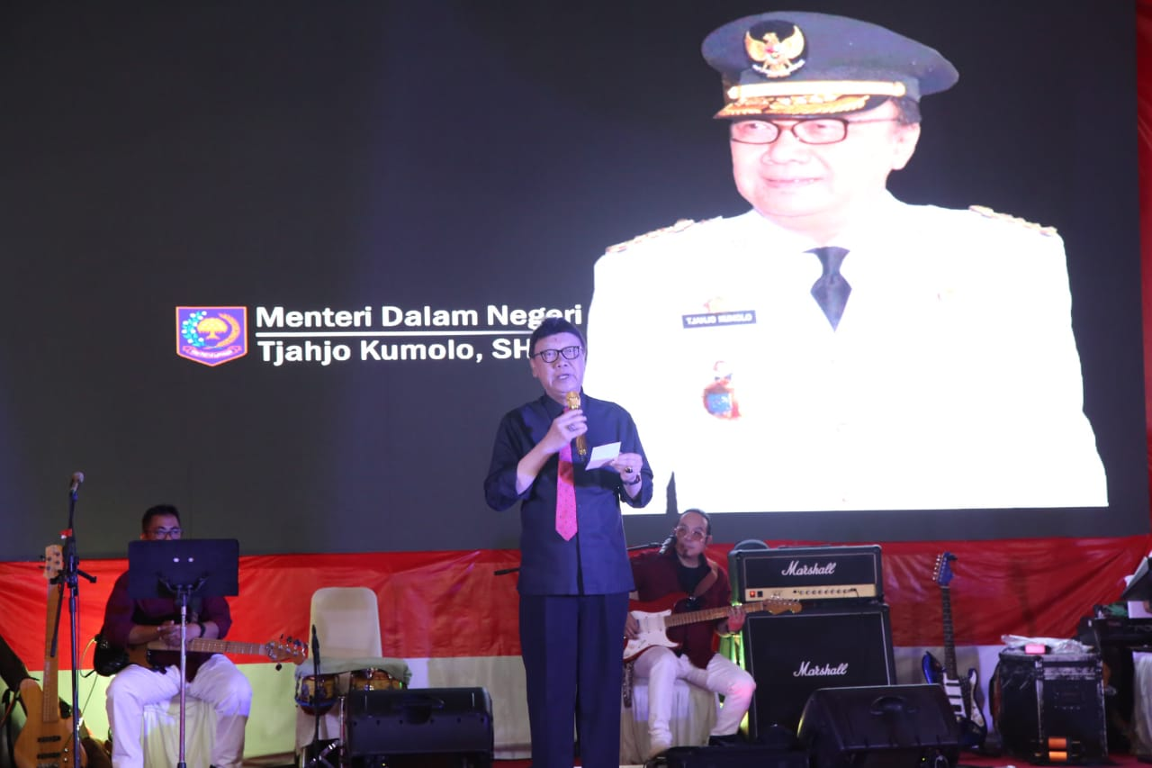 "Malam Tasyakuran HUT RI ke-74, Mendagri Beri Kejutan Bacakan Puisi ""Aku Melihat Indonesia"""