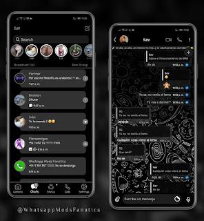 Material Space 2 Theme For YOWhatsApp & GB WhatsApp By Ethel