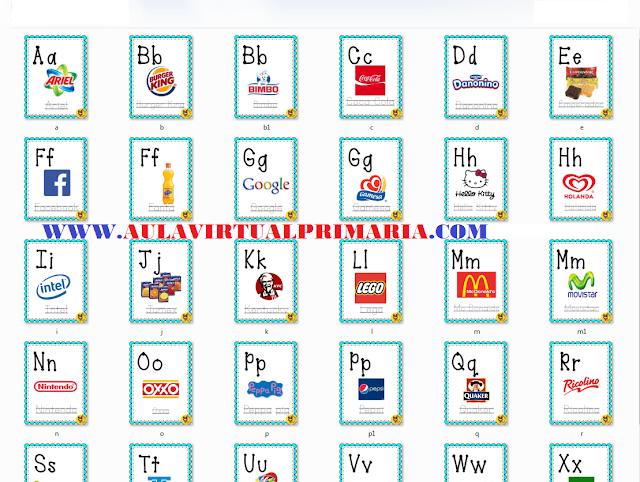 abecedario,imprimir,alfabeto,comerciales,primaria