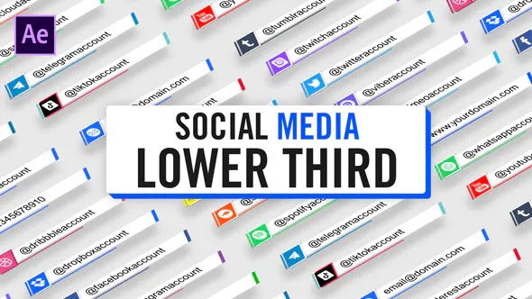Videohive Social Media Lower Third Parallelogram 28401112