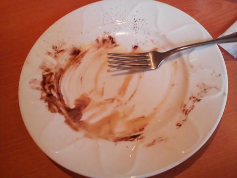 バースデーパンケーキ食後 デニーズ天満通店