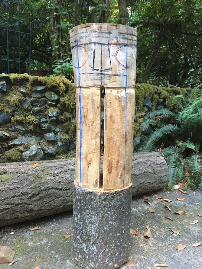 I also worked on this slit drum looking piece of ash.