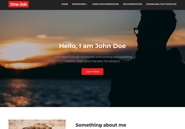 One Job Blogger Template